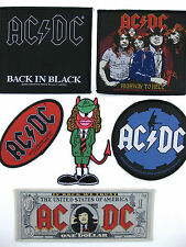 ACDC PATCHES  SEW ON ACDC LOGO ANGUS HIGHWAY TO HELL BACK IN BLACK AND MORE