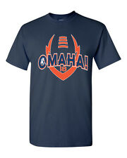 Manning Peyton OMAHA Denver Broncos Football Men's Tee Shirt 1335