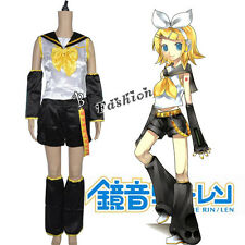 Fancy Clothing Vocaloid Rin Women Girl Anime Birthday Party Cosplay Costume Gift