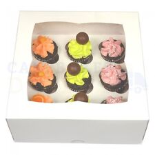 9 MINI CUPCAKE BOX + DIVIDER CHEAPEST ON EBAY CHOOSE YOUR COLOUR & QUANTITY