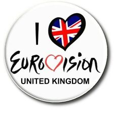 """EUROVISION SONG CONTEST PARTY BADGES/ EUROVISION SWEEPSTAKE 2~ 55 MM/ 2.2 """""""