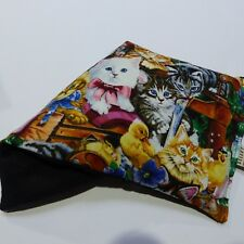 Large Wheat Heat / Cold Pack 34 x 17cm Bag - Cats / Kittens in the garden