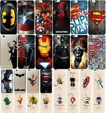 Super Hero Comic Book Character Hard Cover Case DC Comics Marvel Avengers