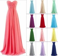 Long Chiffon Prom Gown Evening Formal Party Cocktail Prom Dress Stock size 6-18
