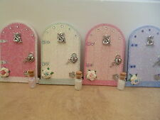 MAGICAL GLITTER FAIRY DOORS CREAM, PINKS & LILAC WITH FAIRY DUST LOCK KEY