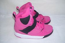 New! Girls Toddler Nike Jordan Flight 45 High Shoes 524863-607 Pink/Black  48I