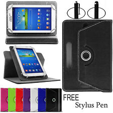 "UNIVERSAL 360° Folio LEATHER Smart STAND CASE COVER FOR All 7"" ANDROID TABLET"