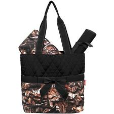 Personalized Camo Camouflage Print Quilted Diaper Bag 3 pieces set Monogrammed