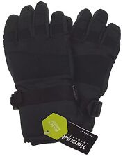 Athletech Mens Black Ski Gloves 3M Thinsulate Insulation Waterproof Winter Warm