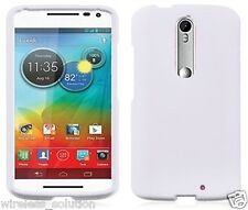 WHITE Snap-On Case Hard Cover for Motorola Droid Turbo 2 / Kinzie