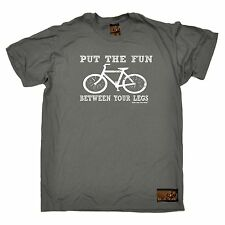Put The Fun Between Your Legs T SHIRT - cycling bike cycle slogan fashion tee