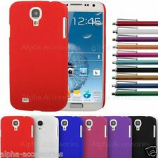 Hard Back Matte Finish Case Skin Cover For Samsung i9500 Galaxy S4 S IV + Stylus