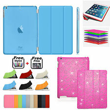 Ultra Slim Bling Diamond Magnetic Leather Smart Case Cover For Apple iPad 2 3 4