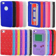 Soft Silicone Rubber Bling Diamond Cassette Round Case Cover For Apple iPhone 5