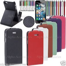 HQ Leather Flip Stand Case Cover Pouch With Magnetic Closure For iPhone 5, 5S