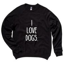 I Love Dogs. Mens Raglan Sweater Dogs Puppies Soft Comfy Top