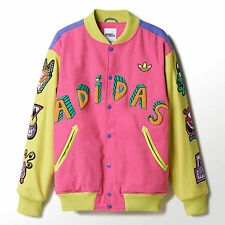 Adidas Originals ObyO X Jeremy Scott x Kenny Scharf Varsity Jacket SUPER CUTE