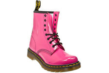 New Dr Martens docs womens HOT PINK PATENT (SHINEY) leather 1460  8up boots