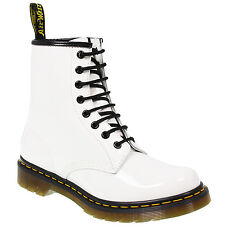 New Dr Martens docs  womens WHITE PATENT (SHINEY) leather  8up 1460 boots