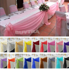 Adorable Table Swags Sheer Organza Fabric DIY Wedding Party Bow Decorations TSUS