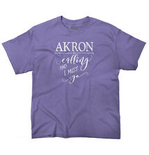 Akron, OH is Calling I Must Go Home Womens Shirt State City Youth T-Shirt