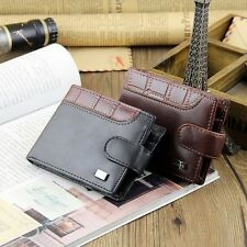 Luxury Leather Bifold Clutch Wallet ID Credit Card Slots Coin Purse For Men