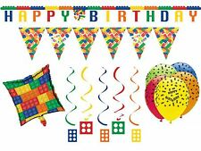 Block Party Decorations Birthday Party Supplies Banner Balloons Bunting Lego