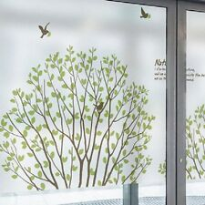 Tree Birds Frosted Window Film Privacy Bedroom Bathroom Office Glass Decor QMS