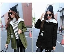 Fashion Women Korean Winter Hooded Coat Jacket Fur Collar Parka Thicken Overcoat