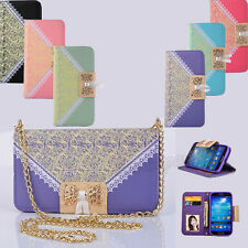 Luxury Rope Cute Card Wallet Flip PU Leather Phone Case Cover For Samsung Galaxy
