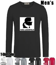 FUNNY BNWT KARL LAGERFELD Graphic Sleeves Men's Boy's Cotton Blend T Shirt Tops