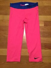 Nike Girls Dri Fit Pro Compression Training Capris Tights Save 40%!!  Large Pink