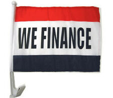 WE FINANCE Clip On Car Window Flags Priced / Dozen