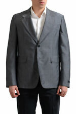 Prada Men's Gray Mohair Wool Two Button Sport Coat Blazer US 40 42
