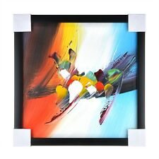 Modern Abstract hand-painted Art Oil Painting Wall Decor With Frame Gift 30x30cm