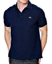NEW LACOSTE MEN'S ATHLETIC SHORT SLEEVE COTTON POLO SHIRT L1212-CN8-MARINE-BLUE