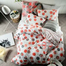 NEW Linen House Tika Quilt Cover Set, Coral