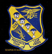 US NAVY PARACHUTE TEAM LEAP FROGS HAT PATCH SEAL TEAM TRIDENT EAGLE USS NAS WOW