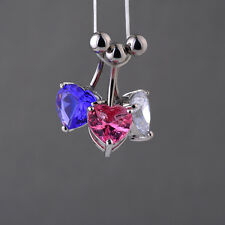 Navel Belly Ring Rhinestone Button Bar Heart Star Fashion Body Piercing Jewelry