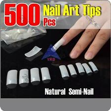 500X False French Nail Art Tips Salon Tool Natural Color Acrylic UV Gel Lots