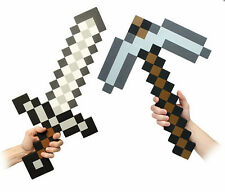 Minecraft Large  Sword Pickaxe axe IRON/STONE EVA Weapons Plush Doll soft toys
