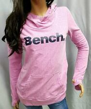 NWT~WOMENS PINK BENCH HOODIE SWEATSHIRT WITH THUMBHOLES~RETAIL $79~XS~S~M~L~