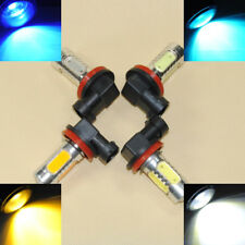 2x White Blue Yellow Red Yellow H11 H8 H9 7.5W LED projector Fog Light Lamp bulb