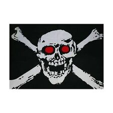 Skull & crossbones designs 80s Punk Rock large bandanna red eyes Halloween