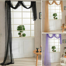1 Pcs Vogue Door Window Curtain Drape Panel or Scarf Assorted Scarf Sheer Voile