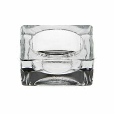 Tea Light Candle Holder Glass Crystal Square Party Decor Wedding Xmas Diwali Fun