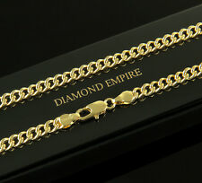 Curb Chain Necklace 5 mm 750 18 ct Gold-plated Unisex K1785-1
