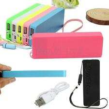 5600mAh Portable External Battery USB Charger Power Bank for Mobile Phone Colors