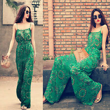 Sexy Elegant Womens Chiffon Wide Leg Pants Cocktail Evening Jumpsuit Rompers