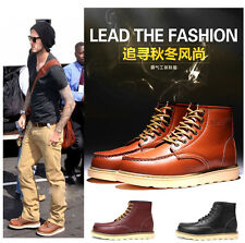 100% Leather--2016 NEW Street ROCK COOL Winter MEN boy PUNK Fashion boot SHOE